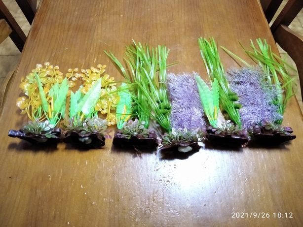 6 Plantas artifisiais para aquário de água fria ou quente