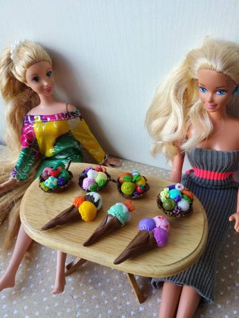 Barbie, dollhouse, maileg, Schleich, jedzenie