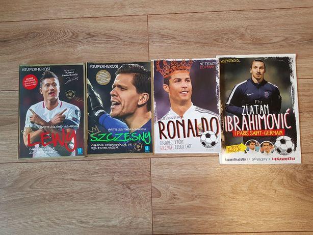 Książki o piłkarzach: Szczęsny, Lewy, Ronaldo