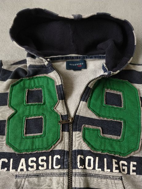 Bluza z kapturem Reserved dla chłopca rozmiar 134
