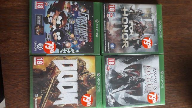 Gry na Xbox one 4 sztuki za 200zl lub każda za 50 zł