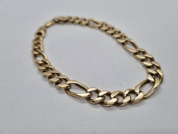 Męska bransoletka bransoleta figaro złota 29.13 gr 14k 585 LOMBARD