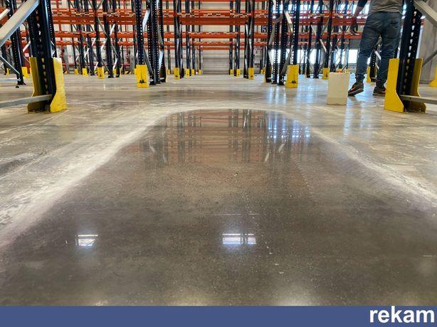Renowacja posadzki przemysłowej, polerowanie betonu szlifowanie betonu