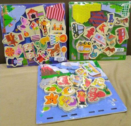 Деревянные 3d пазлы Playtive Junior. Цирк, Океан, Пожарная часть