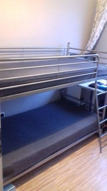 łóżko piętrowe konstrukcja metalowa