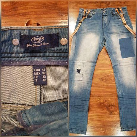Spodnie jeans Bershka, roz. 42, męskie, praktycznie nowe