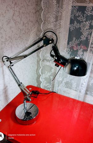 Lampa biurkowa GoodHome Bakossi 1-punktowa E14 chrom