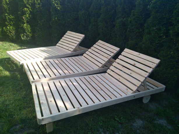 Leżak ogrodowy drewniany 80x200cm
