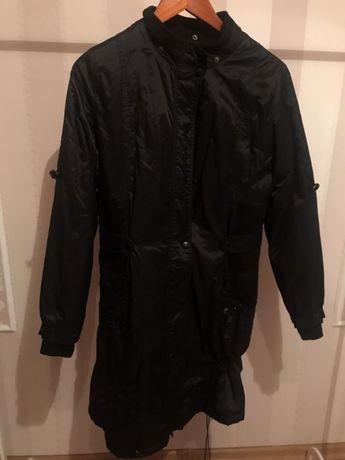 Плащ чорний, курточка женская чорная, пальто