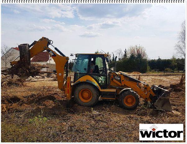 Czyszczenie działek/wyrywanie korzeni/niwelacja terenu
