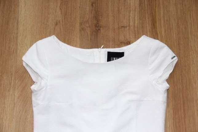SIMPLE biała sukienka suknia biel 36 S ślub chrzest wesele komunia