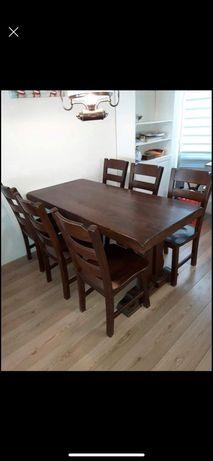 Stół krzesła komplet Dębowy
