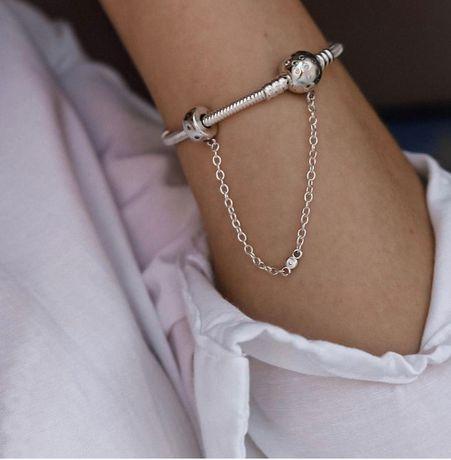 Серебряный браслет на руку
