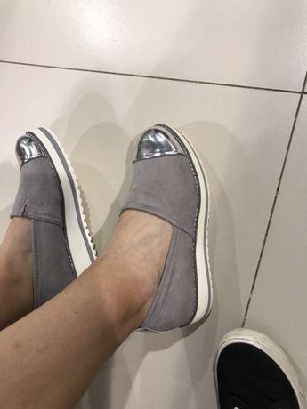 Туфли женские лоферы эспадрильи
