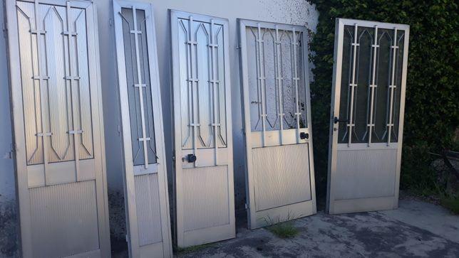 Caixilharia alumínio usada, porta abrir, portas correr, janelas correr