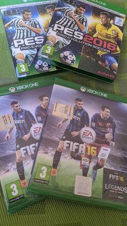 Ліцензійні ігри для XboxOne, Fifa 16, PES 16