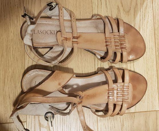 Sandałki damskie skórzane LASOCKI rozmiar 41