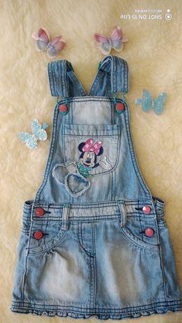 Disney 92-98см/комбинезон-юбка/джинсовая юбка