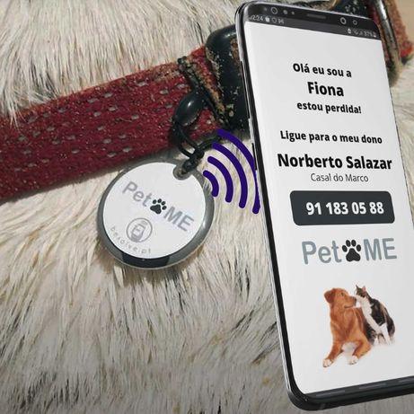 Tag PetMe - Identificador para animal de estimação Cão Gato - Passeio