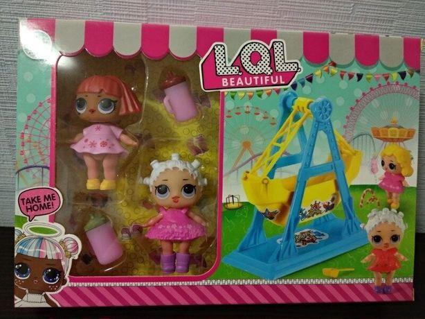 Игровой набор куколки Лол lol LOL кукла качели парк площадка арт JY185