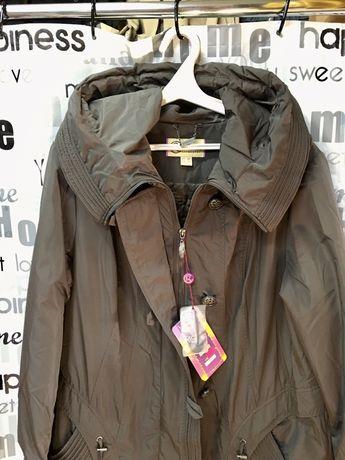 Пальто женское демисезонное, длинное,фабричный дорогой Китай 54,56,58,