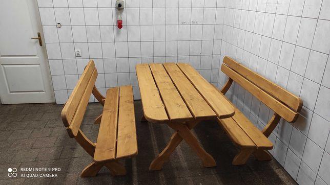 Zestaw ogrodowy, stół, ławki, meble ogrodowe