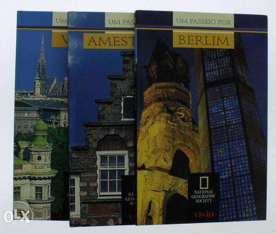 Livros 5 Guias de Capitais Europeias Conjunto de 6 volumes ilustrados