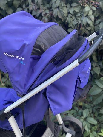 Коляска синяя осенняя прогулочная трость легкая складная Easy go