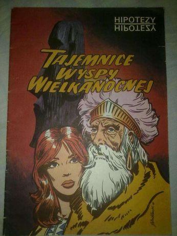 """Komiks """"Tajemnice Wyspy Wielkanocnej"""", Hipotezy, Warszawa 1989 r."""
