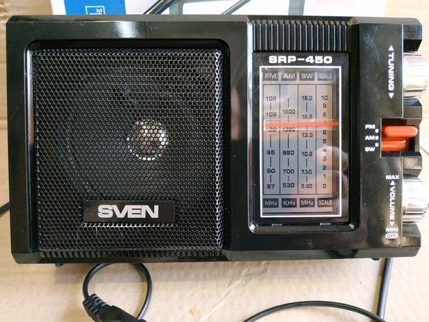 Радиоприемник портативный SVEN SRP-450 Black