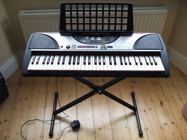 Keyboard Yamaha syntezator z dynamiczną klawiaturą statyw, MIDI komple