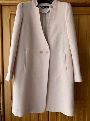 Zara płaszcz damski XS elegancki róż delikatny  modny okazje wesele