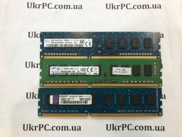 ОЗУ DDR3 4 GB , память для компьютера ДДР3 4 ГБ ( 1600 )