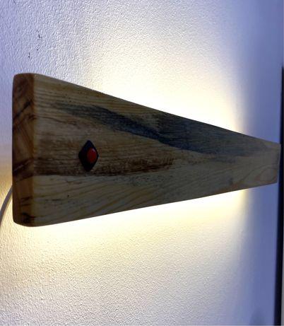 Светильник из натурального дерева