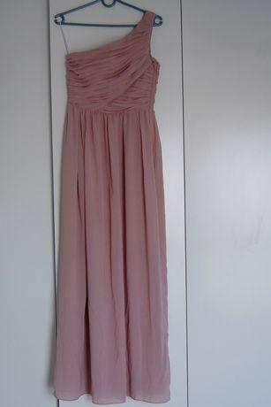 Sukienka maxi H&M 36/S /pudroworóżowa/świadkowa/Pani młoda/poprawiny