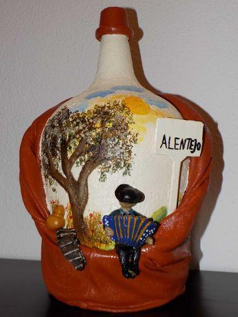 Artesanato com garrafões,pinhas,cimento e cartão