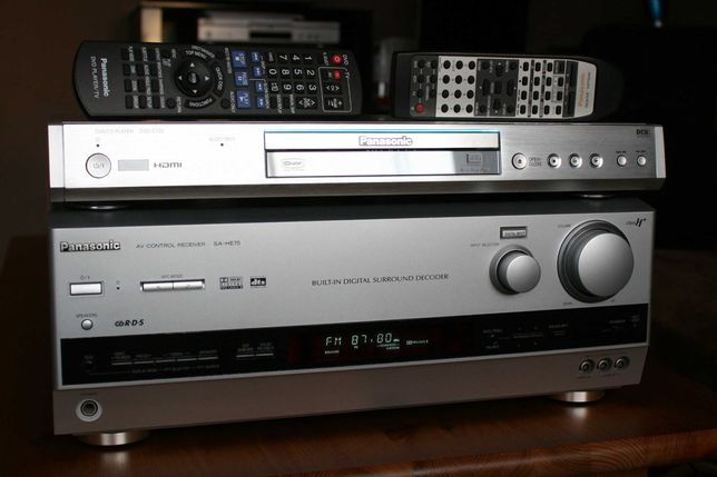 Amplituner Panasonic wejście optyczne do TV wzmacniacz kino domowe