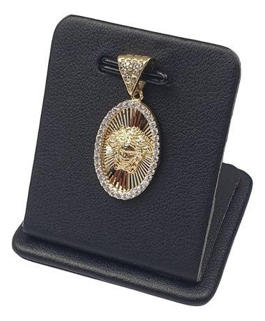 Piękny złoty wisiorek pr. 585 Versace