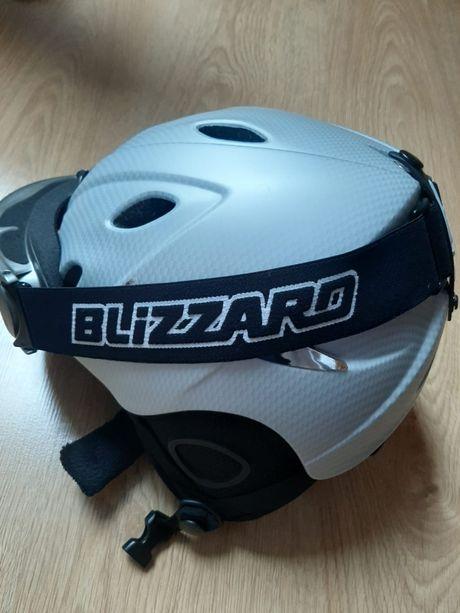 Kask narciarski + okulary Blizzard ( stan IDEALNY )