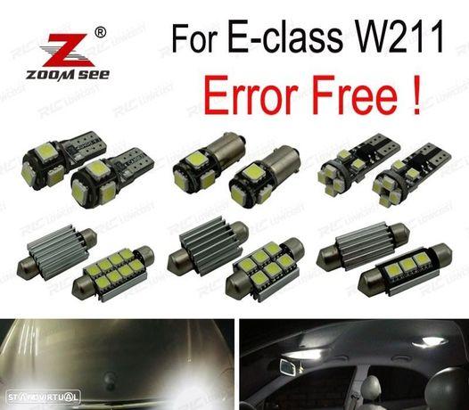 KIT COMPLETO DE 29 LÂMPADAS LED INTERIOR PARA MERCEDES BENZ E CLASE W211 E320 E350 E430 E500 E550 E