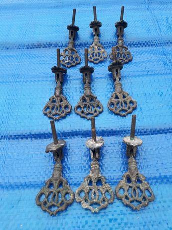 Ładne stare uchwyty meblowe metalowe,