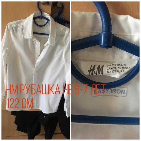 Рубашка фирменная на мальчика 6-7 лет H&M рост 122