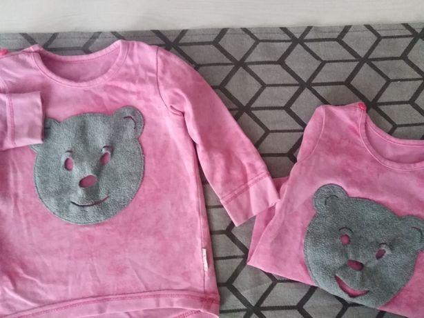 Bluzeczki z długim rękawem dla bliźniaczek roz 80