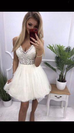Biała sukienka XS