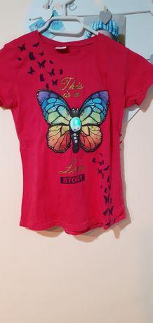 Bluzka koszulka rozmiar 134 świeci się