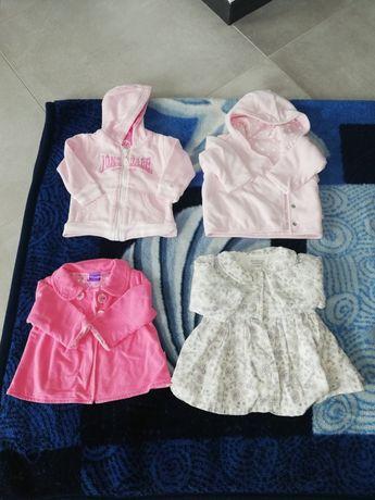 Płaszczyk niemowlęcy, bluza i sweterek 3-6 miesięcy