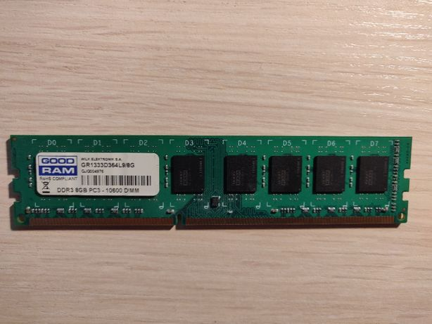 Pamięć GoodRam DDR3, 8 GB, 1333MHz