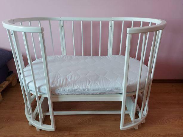 Кроватка круглая 7в1 +кокосовый матрасик+маятник ,  ліжечко