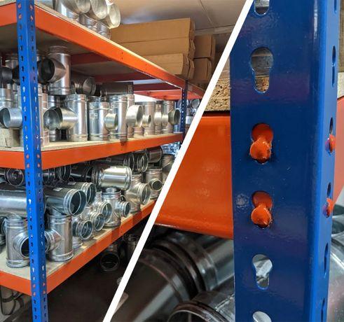 HIT SPRZEDAŻOWY regał metalowy 198/154/62 4P 440KG malowany proszkowo