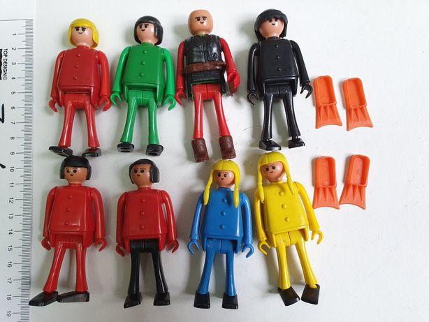 Stare Figurki Firma Big 8 sztuk Zabawki z Prl Podobne do Playmobil